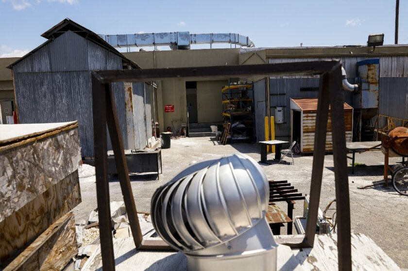 The UCLA Graduate Art Studios are in a former Culver City industrial zone.
