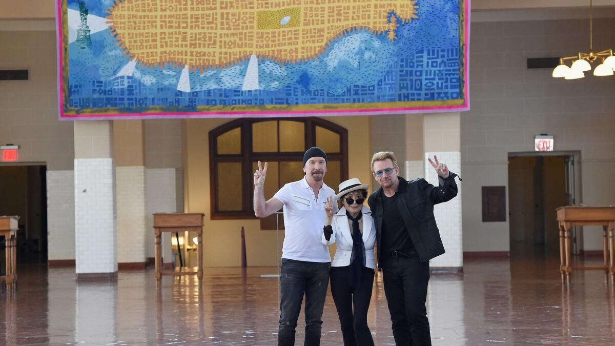 John Lennon Day In New York Celebrated On Ellis Island Los Angeles Times
