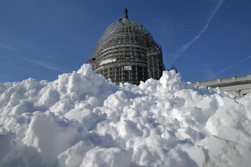 Mid Atlantic States Prepare For Large Snow Storm