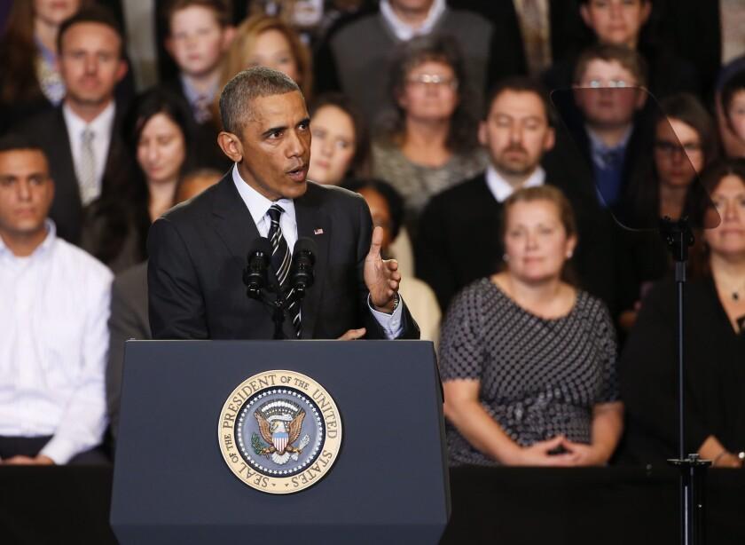 Obama speaks in Chicago