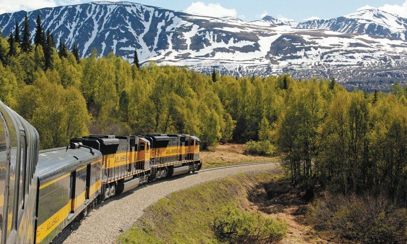 The Alaska Railroad offers comfort and scenery during the trip from Anchorage to Denali Park.