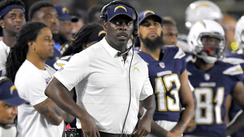 Coach Anthony Lynn and the Chargers will try to improve on last season's 12-4 record and playoff run.