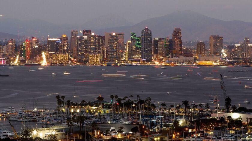 San Diego skyline and bay