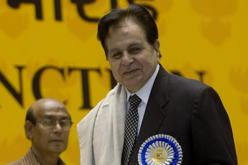 Dilip Kumar at an awards ceremony