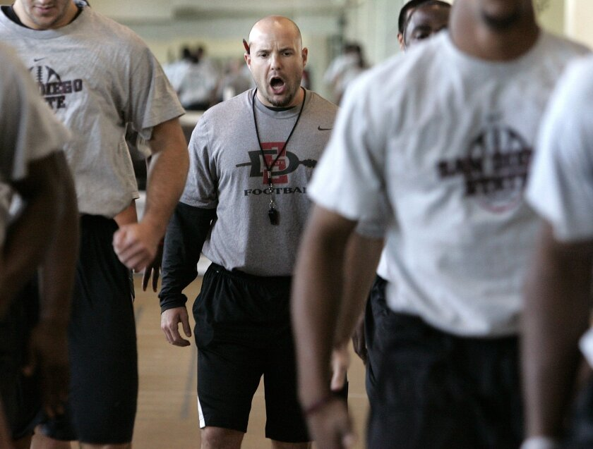 SDSU strength coach Rick Court said his workouts are fast-paced and high-intensity.