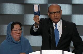 Watch the father of soldier killed in Iraq give powerful address at the Democratic National Convention