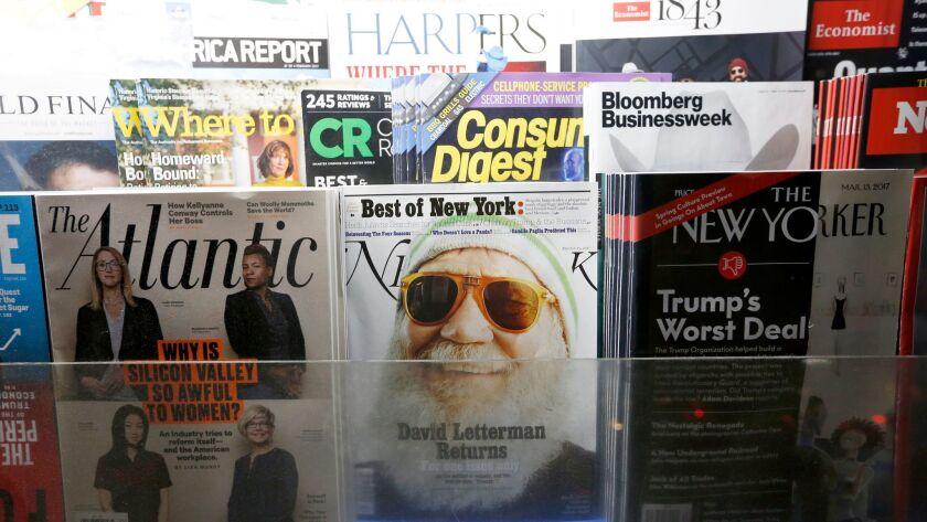 Magazines at Laurel Canyon News in Studio City.