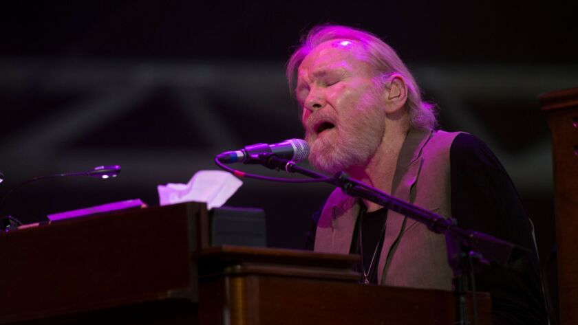 Gregg Allman performs at the Stagecoach Country Music Festival at the Empire Polo Club in Indio in 2