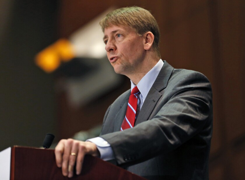 CFPB Director Richard Cordray, shown in March 2015, has announced new protections against foreclosure.
