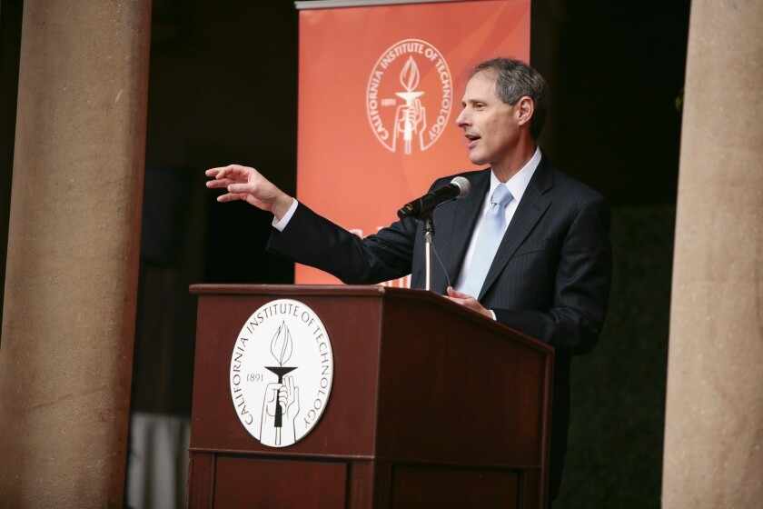 Thomas Rosenbaum, 58, currently provost at the University of Chicago, has been named Caltech's new president.