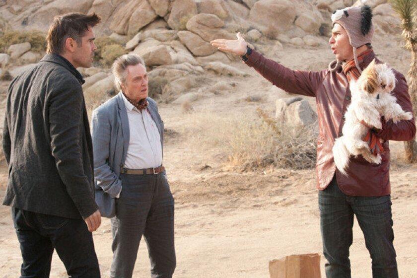 """Colin Farrell, Christopher Walken and Sam Rockwell must deal with the repercussions of stealing a gangster's beloved Shih Tzu in the comedy movie """"Seven Psychopaths."""""""