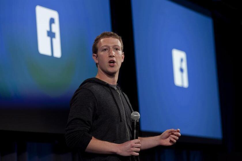 El presidente y fundador de Facebook, Mark Zuckerberg. EFE/Archivo