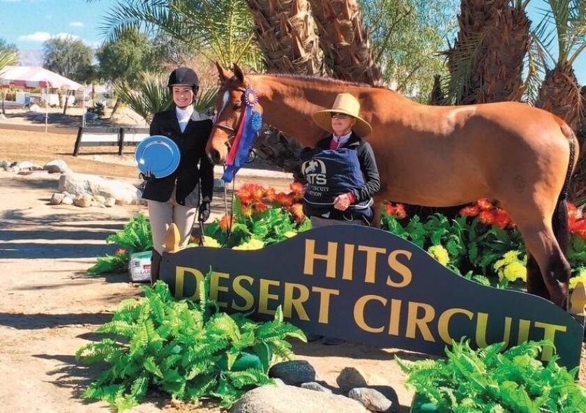 Caroline Ingalls, Osuna Ranch horse Concerto and Hap Hansen assistant trainer Trudi Fletcher won big
