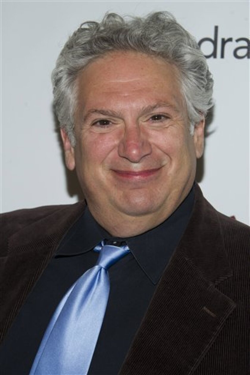 FILE - US actor Harvey Fierstein in New York, in this Friday, May 18, 2012 file photo. The entertainment industry is using its star power and money power to raise a storm of protest over the anti-gay legislation in Russia that is battering the image of the Winter Olympics in Sochi. Actor-playright Harvey Fierstein, British writer-actor Stephen Fry and `Star Trek actor George Takei are among those who have publicly blasted the new law, fueling an uproar that is overshadowing the games with the o