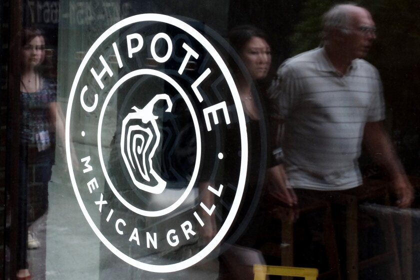 Shares of Chipotle Mexican Grill Inc. were down Monday morning after a cluster of <i>E. coli</i> cases led to the voluntary closure of restaurants in Washington and Oregon.
