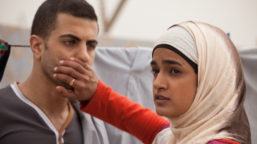 """Jalal Masrwa and Lamis Ammar in """"Sand Storm."""""""