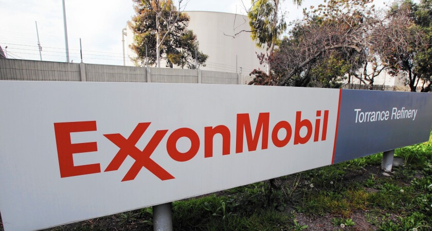 Damage to Exxon Mobil's refinery in Torrance due to the crane collapse is not known.
