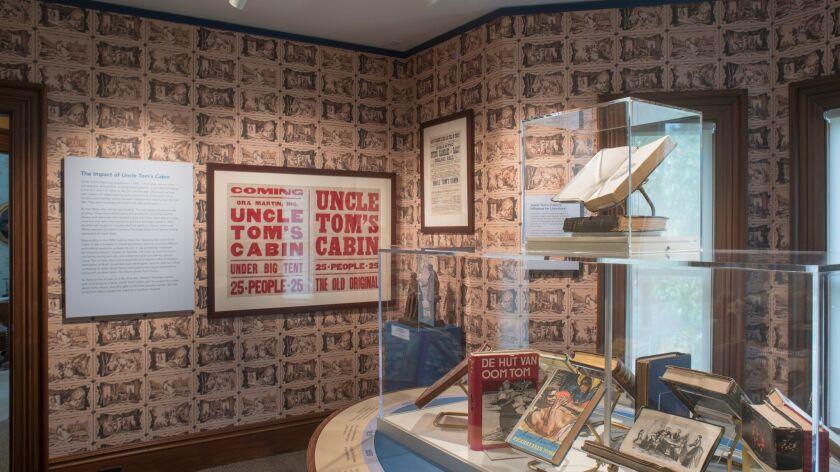 A photograph of the impact gallery in Harriet Breecher Stowe's house. Credit: Harriet Beecher Stowe