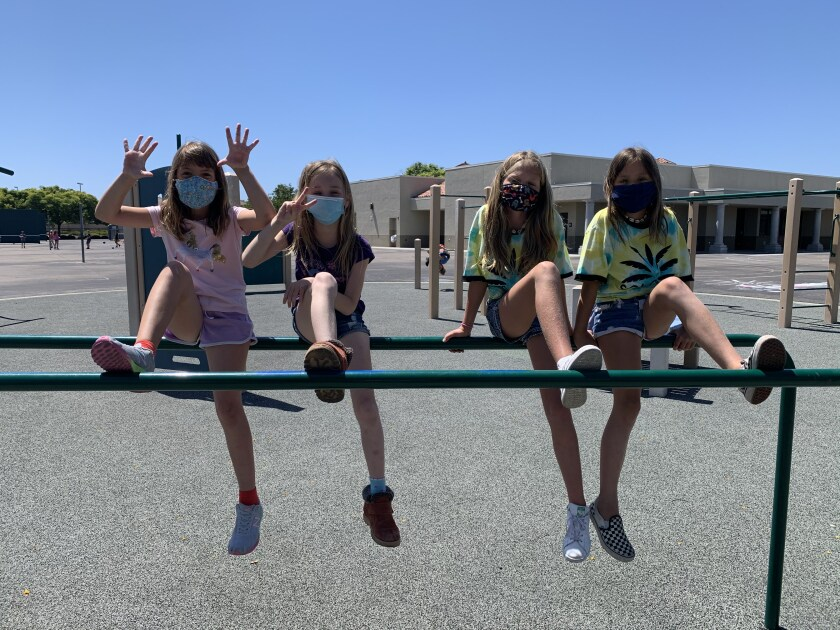 Students in DMUSD's summer camp.