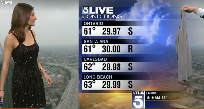 How a KTLA weather woman's little black dress took the