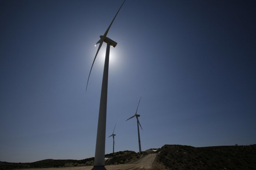 Government-owned turbines in Mexico, close to Sempra's planned Energia Sierra Juarez wind installation