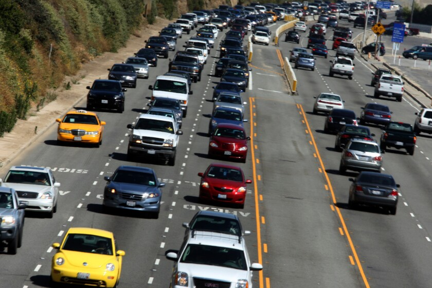 A southbound lane on a stretch of the Pacific Coast Highway in Santa Monica is set to be closed for a year starting this week. Above, a file photo of the PCH.