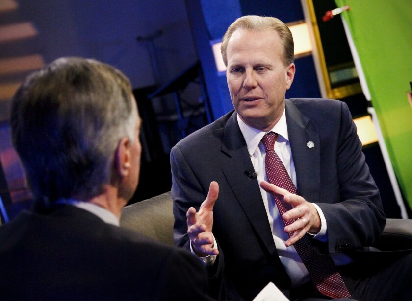 Mayor-elect Kevin Faulconer discusses his election victory with Roger Hedgecock on U-TTV Wednesday.