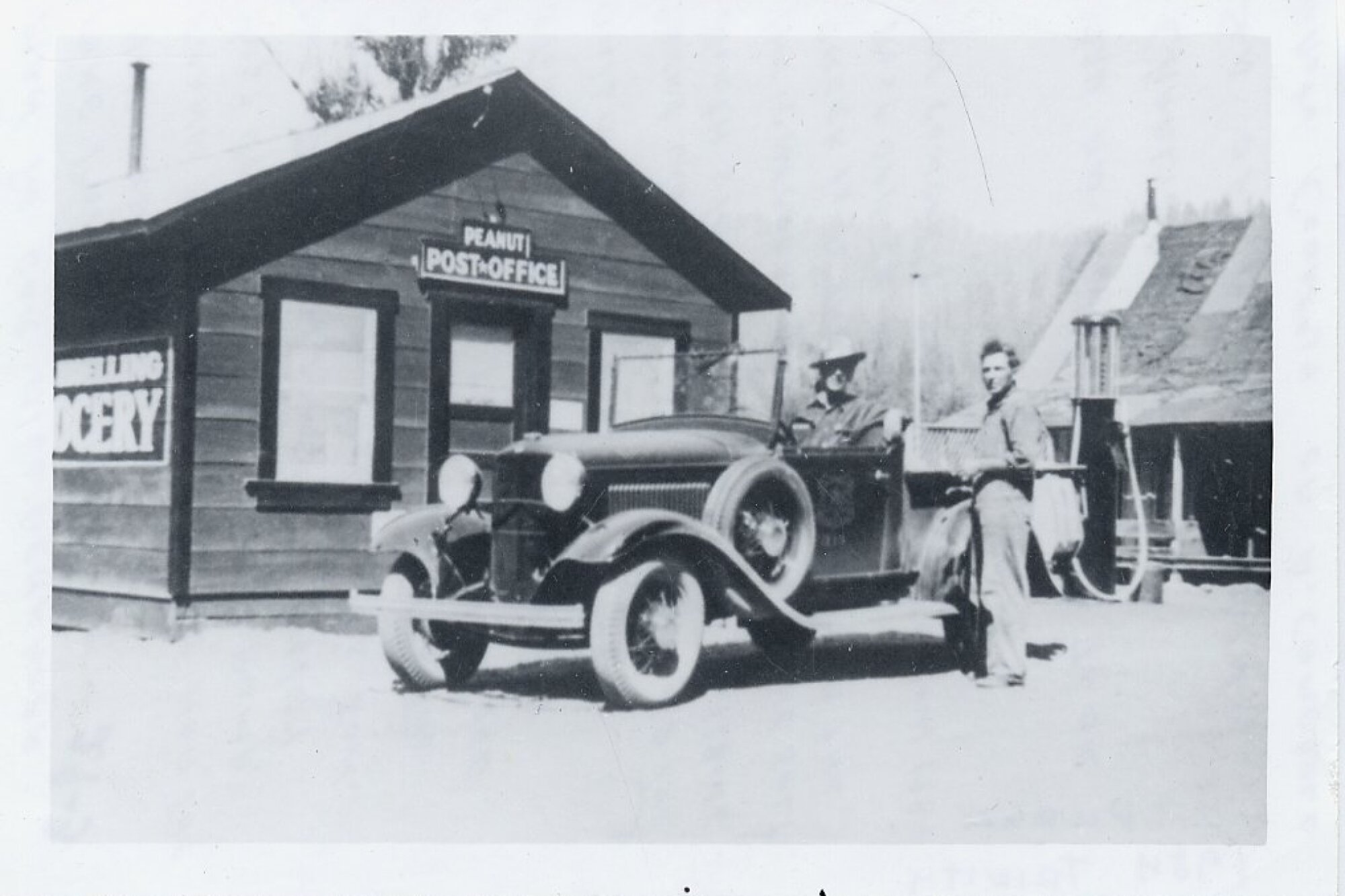 The Peanut, Calif., post office, pictured in the early 1900s