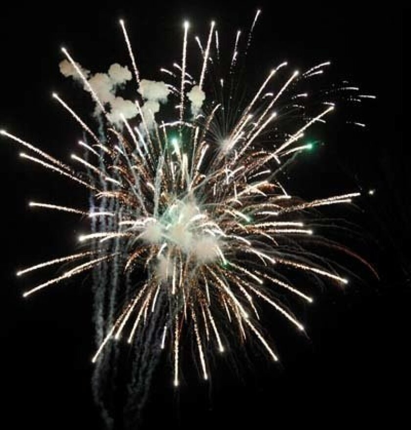 Fireworks went on in 2010 despite a lawsuit. Photo: Brittany Comunale