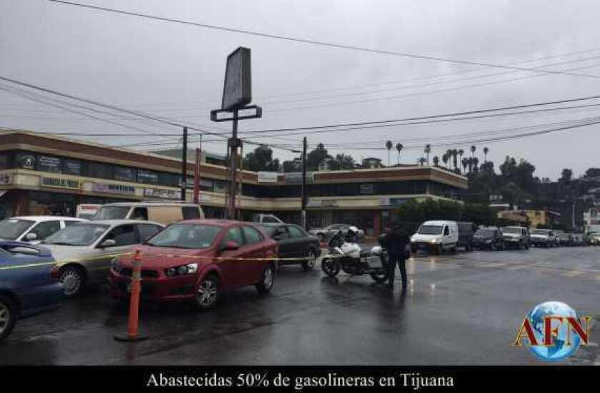 Abastecidas 50% de gasolineras en Tijuana