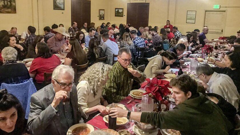 Basque dinner at Noriega?s in Bakersfield, California.
