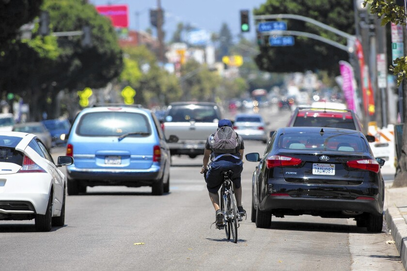 A 2011 plan to add bike lanes along a three-mile stretch of North Figueroa Street would cut one southbound car lane while adding bicycle paths running in both directions.