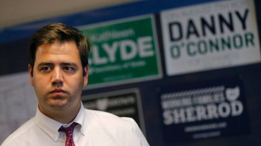 Danny O'Connor, the Democratic candidate in an Aug. 7 special election to finish the term of former U.S. Rep. Patrick J. Tiberi (R-Ohio).