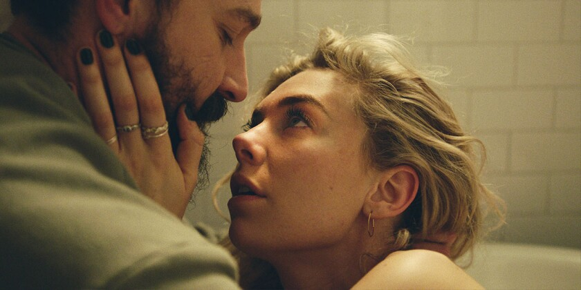 """Shia LaBeouf and Vanessa Kirby in """"Pieces of a Woman."""""""