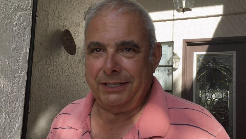 In this image from video, Frank Baressi speaks during an interview with The Associated Press at his home in Palm Harbor, Fla. Thursday, June 30, 2016. Baressi, 62, was the driver of the truck that was hit by a Tesla that Joshua D. Brown, of Canton, Ohio, was operating in self-driving mode, and who