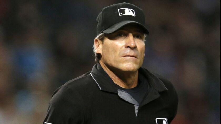 MLB umpire Angel Hernandez.