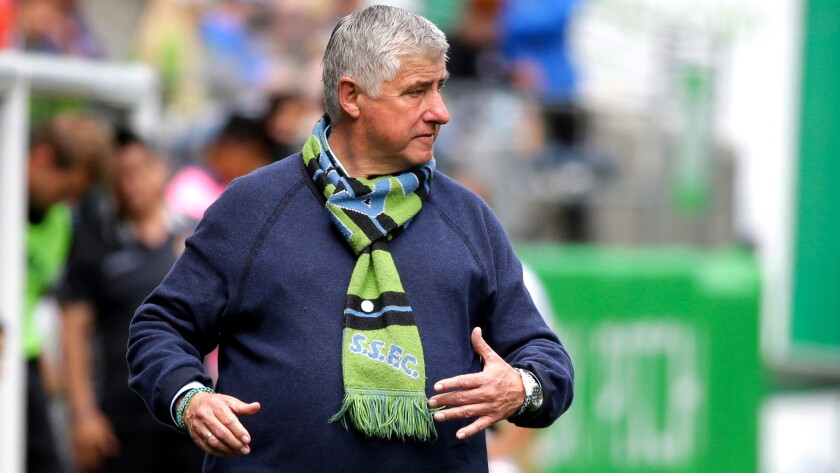 Sounder Coach Sigi Schmid is in charge of the youngest and most inexperienced MLS team.