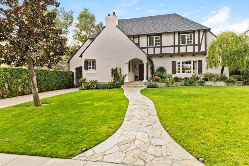 The longtime Beverly Hills home of film and television producer James Brubaker and his wife, Marcy, is up for long-term lease at $22,500 a month.