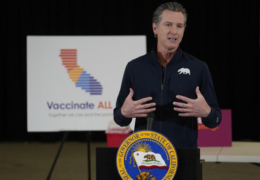 El gobernador de California, Gavin Newsom
