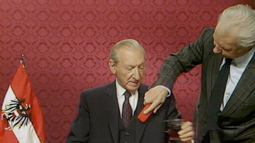 """Kurt Waldheim in a scene from """"The Waldheim Waltz."""""""