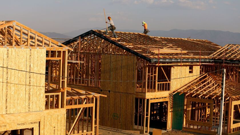 MURRIETA CA. AUGUST 30 2017: Home construction in Murrieta on August 30, 2017. Story is about an inc