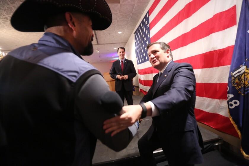 Wisconsin Gov. Scott Walker and Sen. Ted Cruz