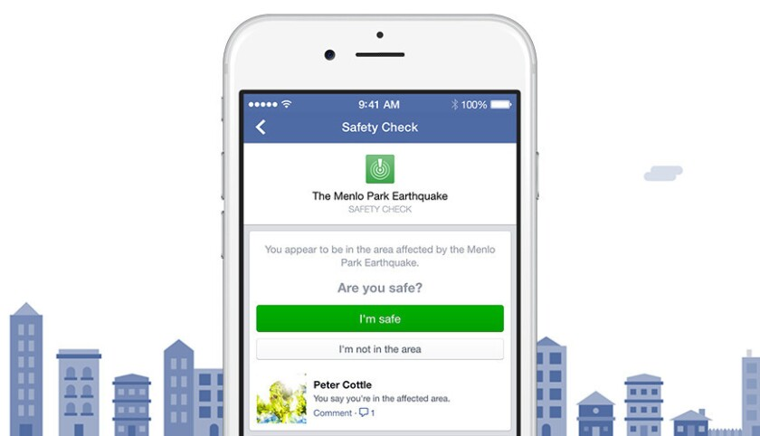 Facebook launches Safety Check tool, which will activate during major natural disasters.