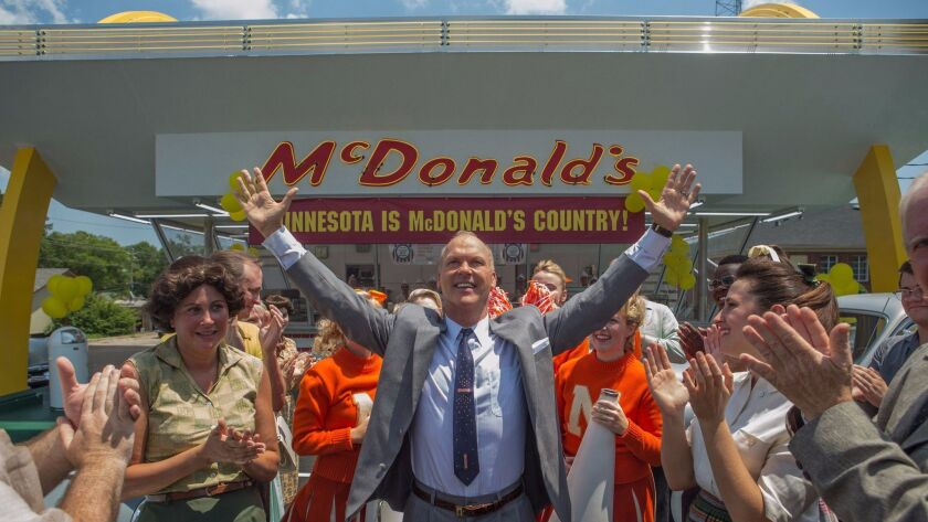 """Michael Keaton plays McDonald's executive Ray Kroc in """"The Founder,"""" the latest release from Weinstein Co."""