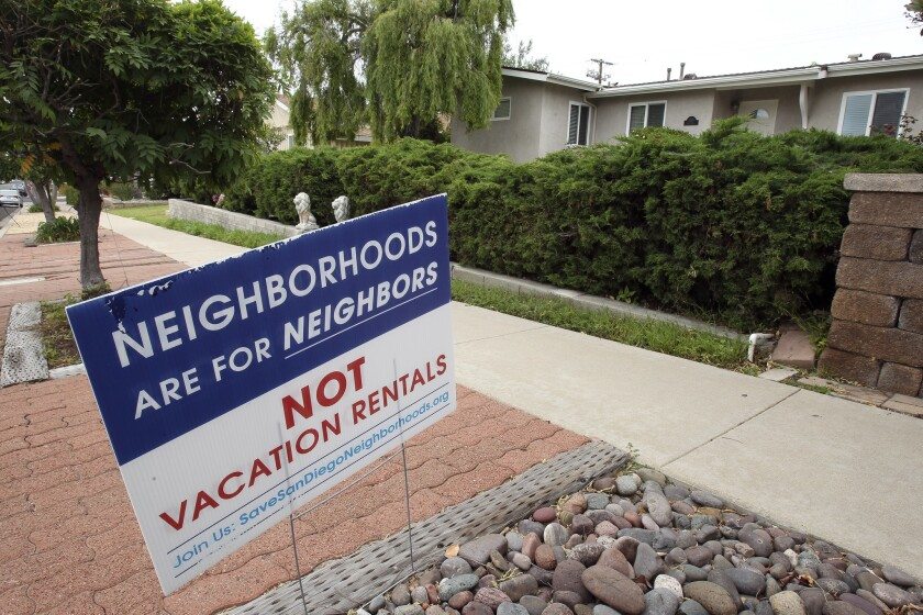 Residents in beach communities like Pacific Beach have led the fight to outlaw short-term rentals in their neighborhoods.