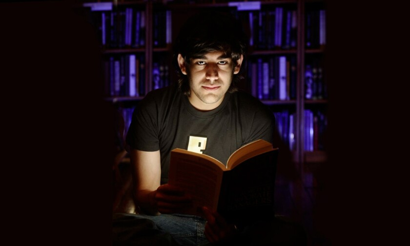 "A scene from the doucmentary ""The Internet's Own Boy: The Story of Aaron Swartz."""