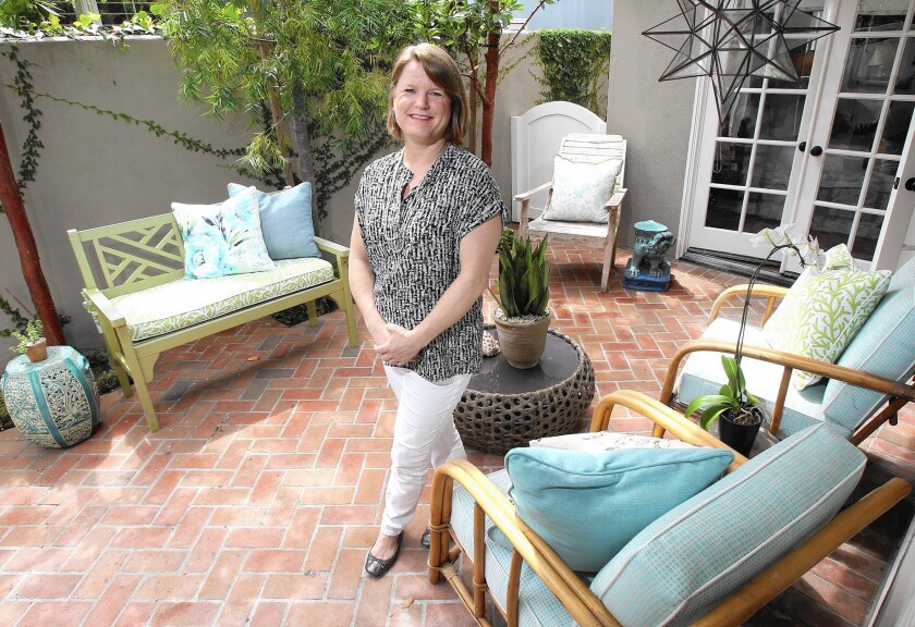 Kathleen DiPaolo in her Newport Beach home.