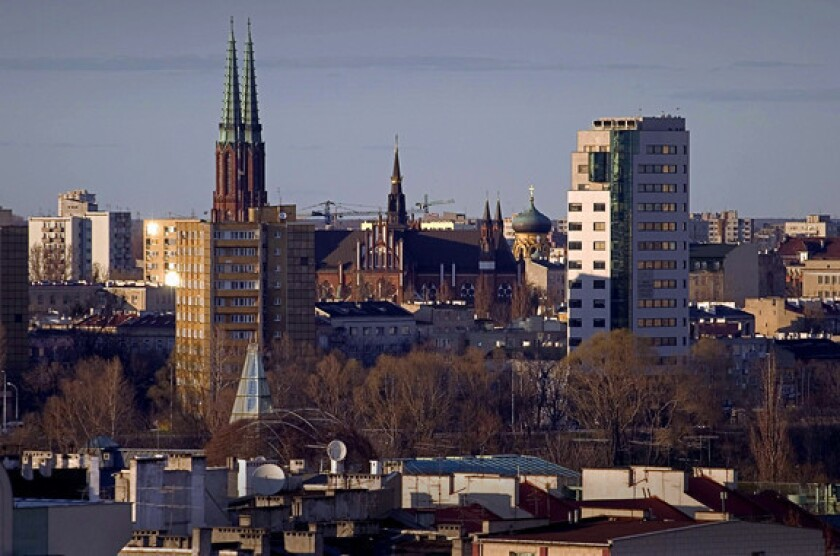 A view of modern-day Warsaw.