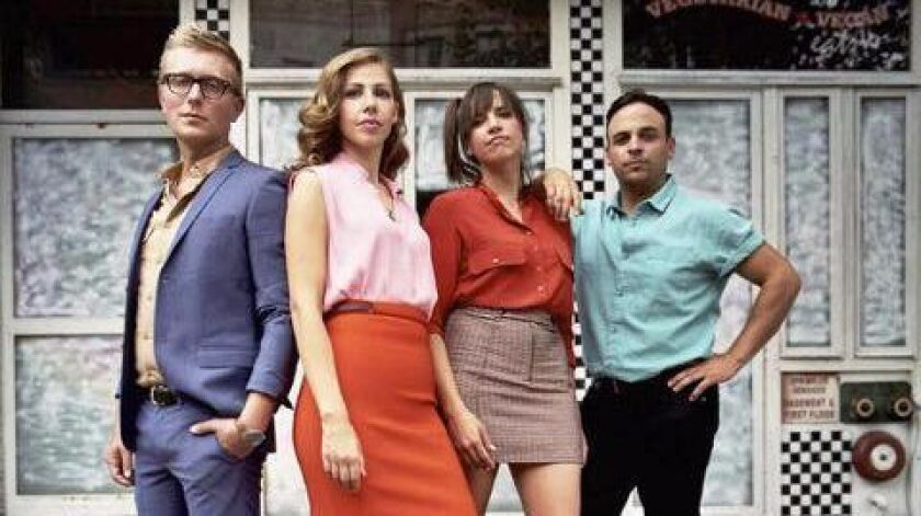 The band Lake Street Dive will perform at The Belly Up in Solana Beach March 19. (Lead vocalist Rachael Price is second from left.)