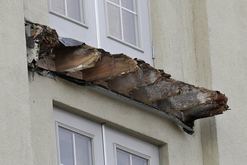 Remnants of collapsed balcony in Berkeley